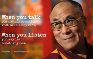 mindful quote van Dalai Lama