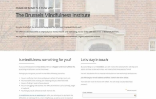 website brussels mindfulness institute screenshot website