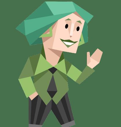 groen happy mannetje