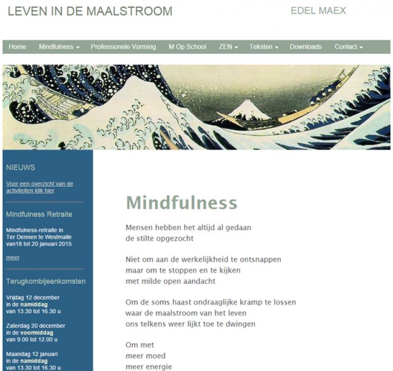 screenshot in de maalstroom van Edel Maex
