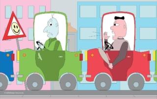 vectorfoto stress tijdens het rijden