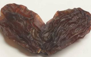 beginnersgeest rozijnen in hartvorm