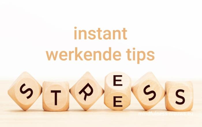 tips om stress en spanning te verminderen
