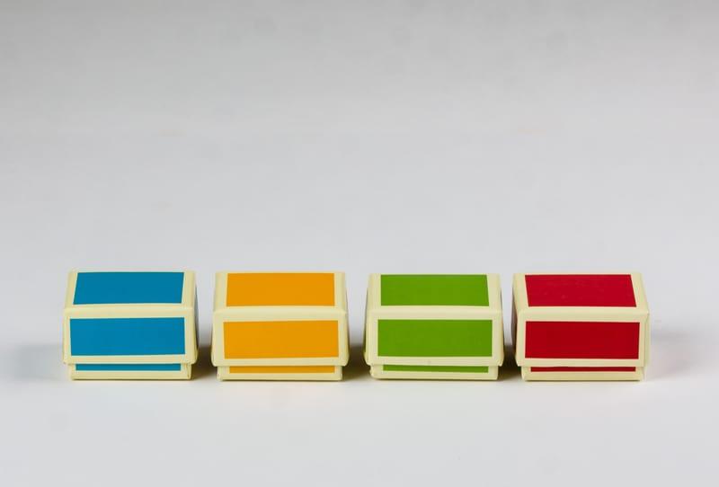 foto met kleurmogelijkheden van het tijddoosje